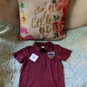 Gymboree Polo - Speed Demon NWT